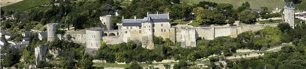 Vue aérienne du château de Chinon